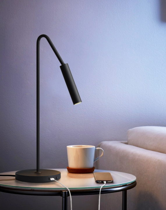 Spotlight Table Lamp (Matte Black) Lifestyle