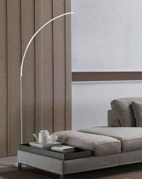 Sentry Chairside Arc Lamp Lifestyle