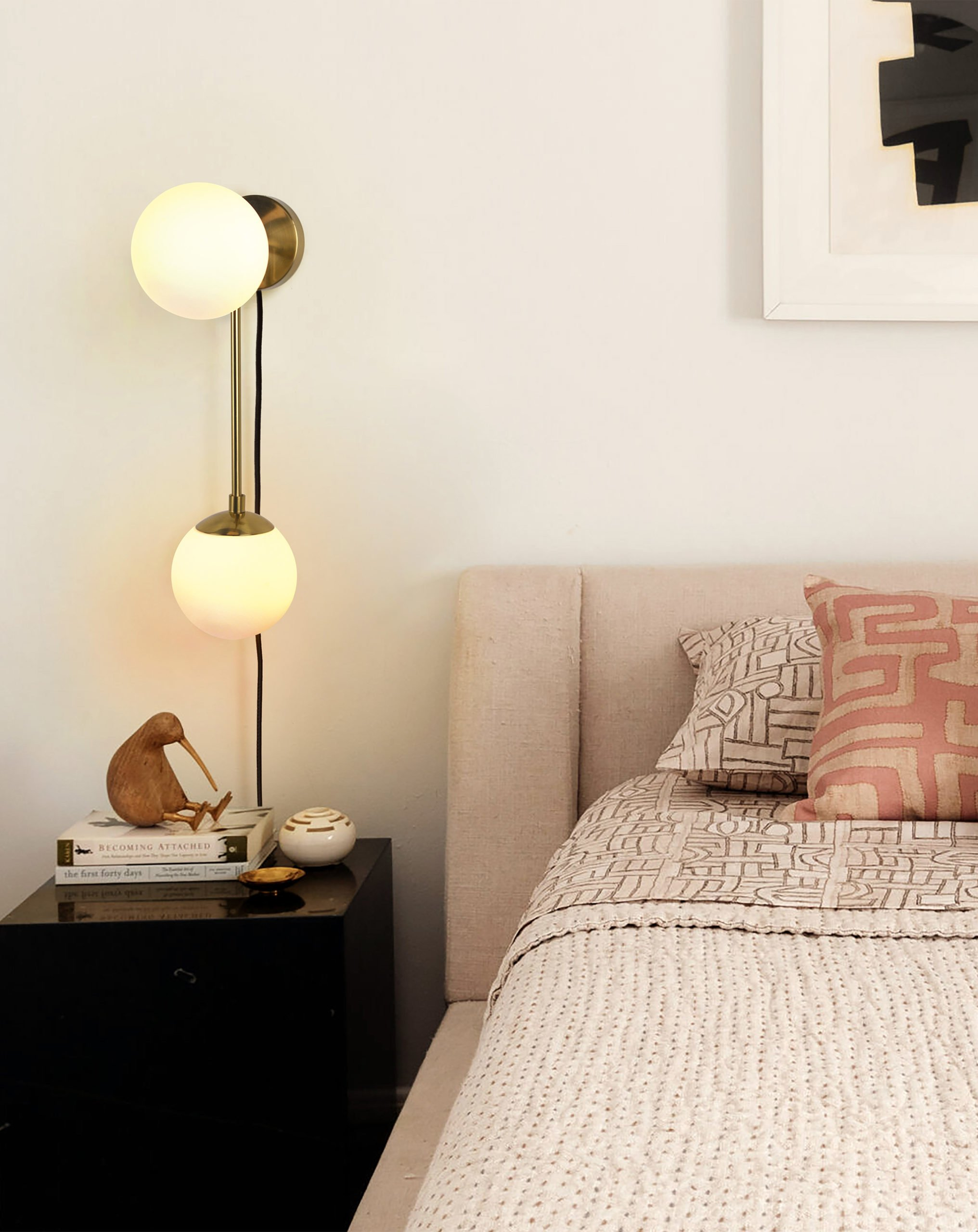 Duo Sconce, Brushed Brass