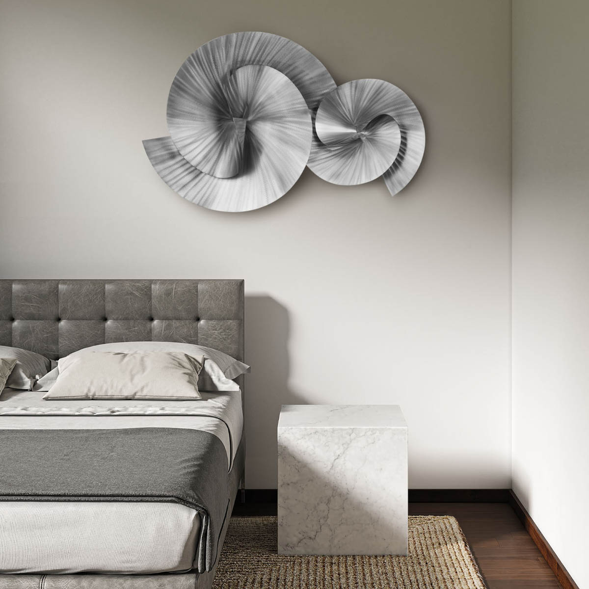 Winding Path Wall Art, Brushed Nickel